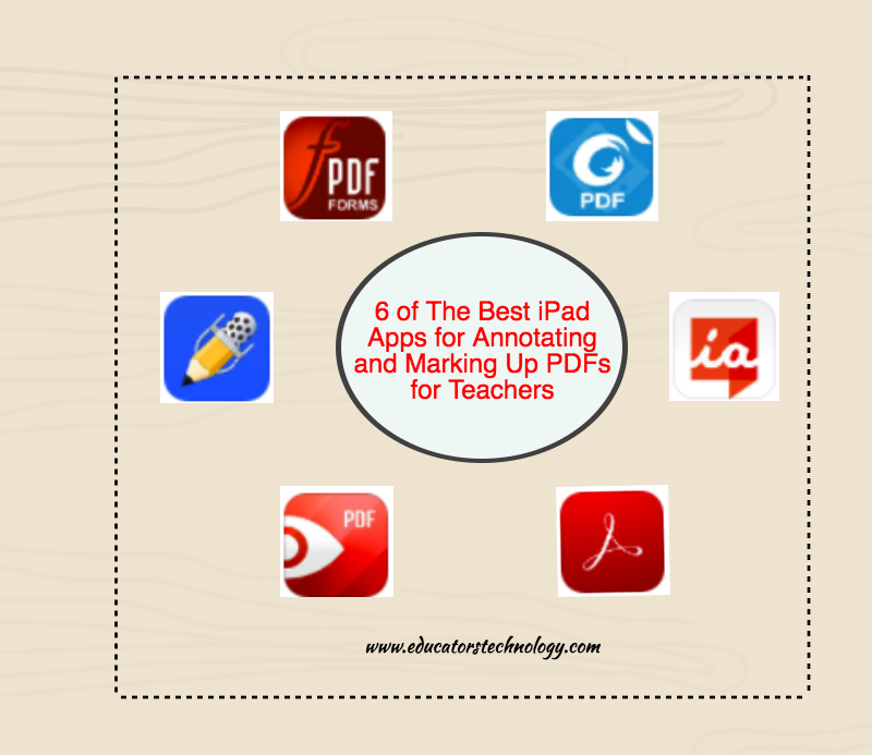 6 of The Best iPad Apps for Annotating and Marking Up PDFs for Teachers