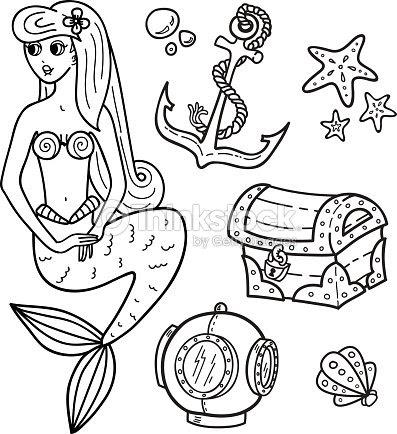 Livre De Coloriage Page Sous La Mer Clipart Vectoriel Thinkstock