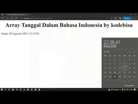 Array Format Tanggal Dalam Bahasa Indonesia di PHP