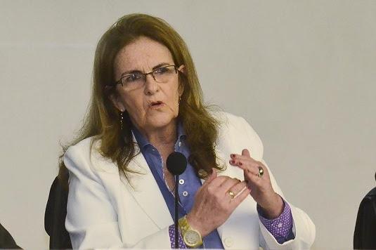 Graça Foster, ex-presidente da Petrobras, foi alvo de busca de apreensão na 64ª fase da Operação Lava Jato | Foto: Fernando Frazão/ Agência Brasil