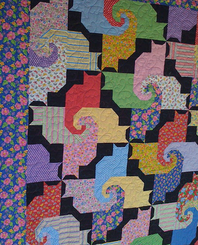 puzzling cats quilt