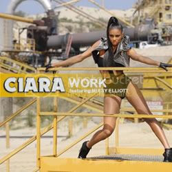 Random J's single artwork for Ciara's 'Work'...