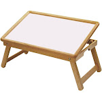 Winsome 98721 Flip Top Bed Tray - White/Natural Finish