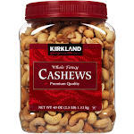 Kirkland Signature Whole Fancy Cashews - 2.5 lb jar