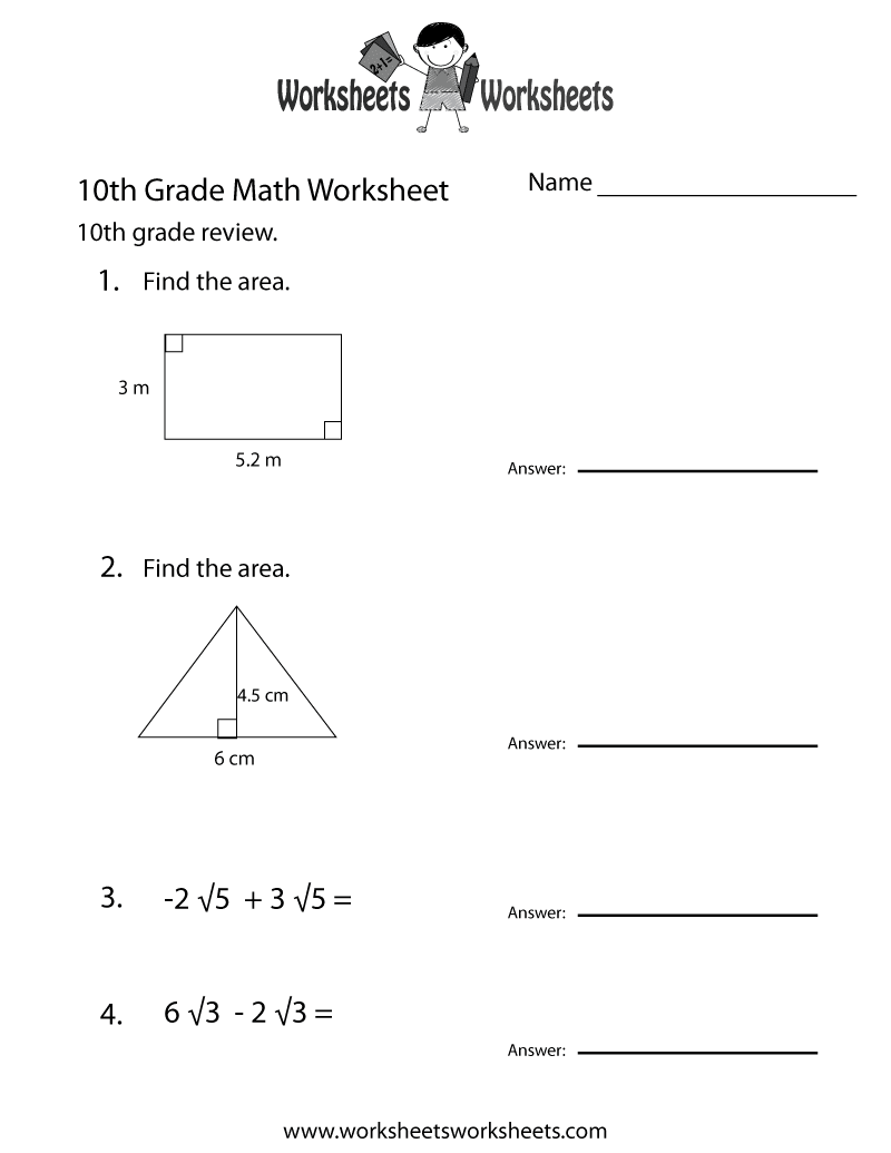 10th Grade Worksheet Category Page 1 - worksheeto.com