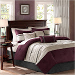 Madison Park Palmer 7-Piece Comforter Set, Plum, King