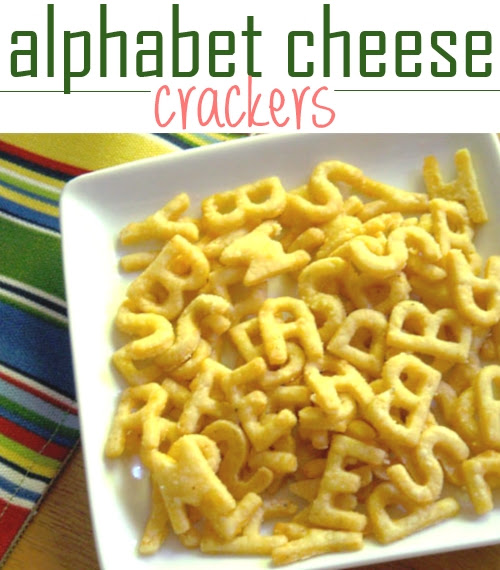 Alphabet Cheese Crackers: How to Make your Own - Kids Activities Blog