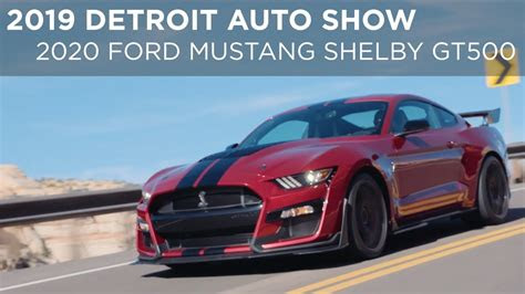 detroit auto show  ford mustang shelby gt
