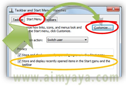 Gambar: Cara mengatur / kustomisasi start menu di microsoft windows