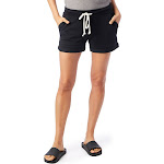 Alternative - Women's Lounge Burnout French Terry Shorts - 8630 - True Black