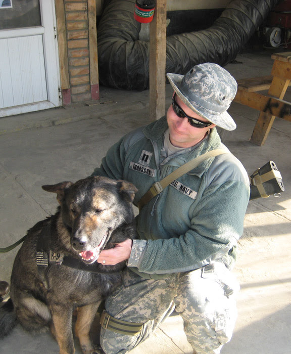 Shawn Thorsson and CPO K9
