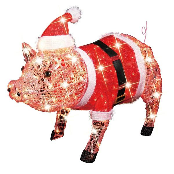 lighted angel pig with wings and red ribbon christmas angels light up ...,  Light-up Christmas Dancing Pig: Barnyard Festive Fun From Sears, Target  Christmas ... - Christmas Light Up Pig Christmas Ideas