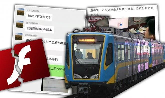 Прекращение поддержки Adobe Flash привело к остановке целой железной дороги в Китае