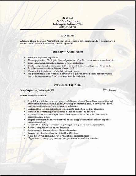 resume format  resume template general