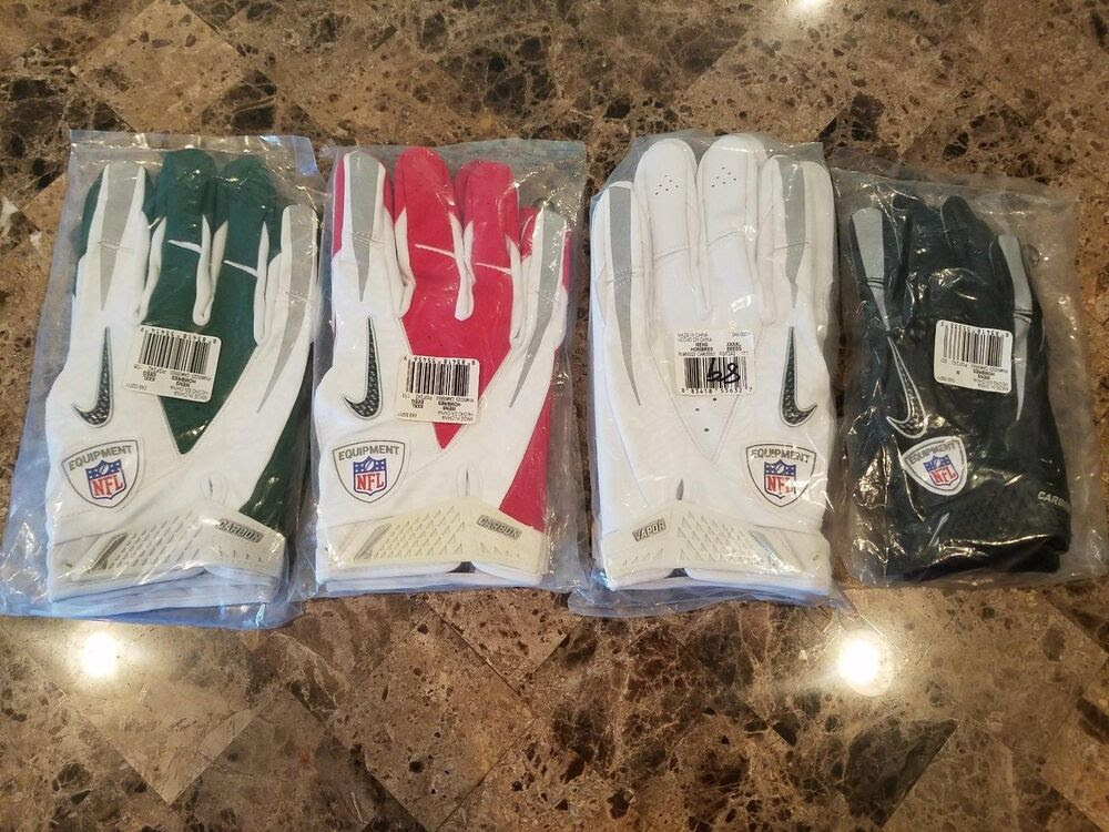NIKE VAPOR CARBON ADULT FOOTBALL RECEIVER GLOVES, PGF242, NEW, NFL ISSUED  eBay