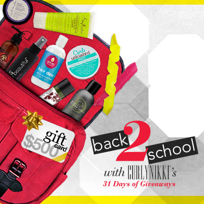 Enter to win Curly Hair prizes: CurlyNikki Back to School Giveaway http://www.naturallycurly.com/giveaways/CurlyNikki-August-2015-Giveaway