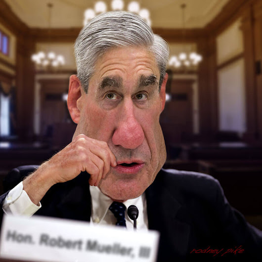 Special Council Robert Mueller - Collusion Investigation - Rodney Pike Humorous Illustrator
