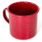Enamel Mug, Red, 12 oz