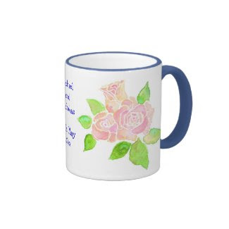 Personalisable Vintage Pink Roses Wedding Mug