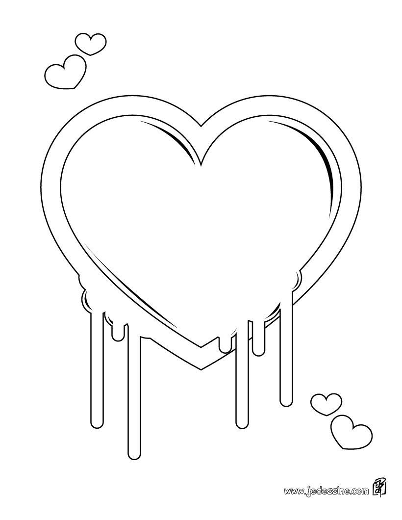 Coloriage Dun Coeur Damour.Inspiration Coloriage A Imprimer Coeur D Amour Imprimer Et Obtenir