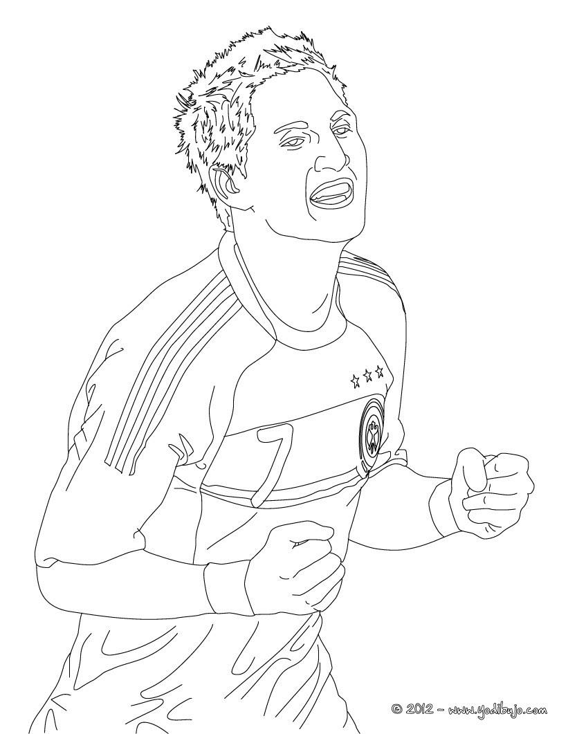 Futbolistas Para Colorear Pintar Los 48 Mejores Jugadores De Fútbol