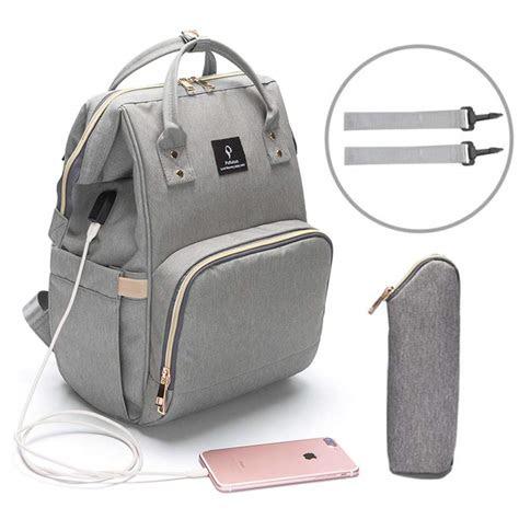 pofunuo diaper bag backpack  usb phone charger