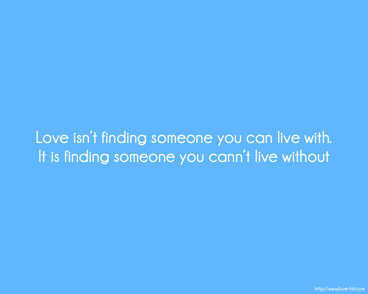 Love isnt about finding some one you love