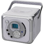 Jensen Portable Bluetooth Receiver Music System with CD Player - Silver