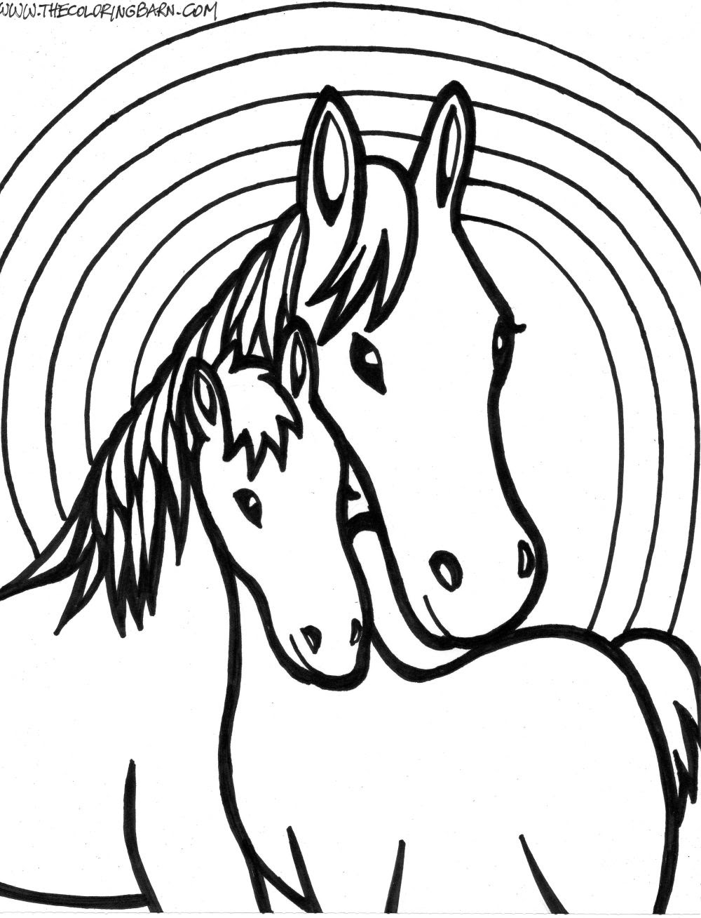 Incredible domestic animal Horse 20 Horse coloring pages ...
