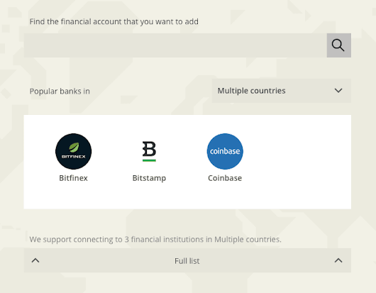 Track Your Cryptocurrency Assets on Bitstamp, Bitfinex and Coinbase with Toshl