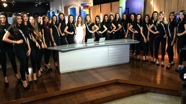 Candidatas a MIss Maranhão visitaram redação da TV Mirante (Foto: Maurício Araya/G1)