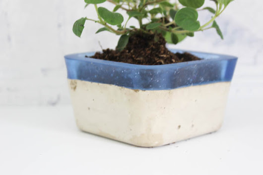 Make your own concrete & resin planter using Envirotex Lite!