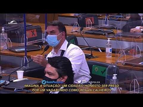 Vídeo: Renan Calheiros é um vagabundo, diz Flávio Bolsonaro.