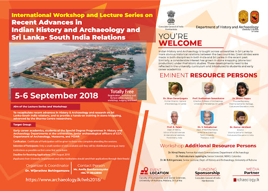 International Workshop and Lecture Series on Recent Advances in Indian History and Archaeology and Sri Lanka-South India Relations