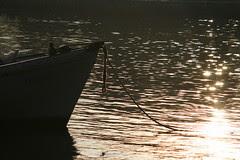 14th Apr 07, Changi beach, boat with backlight, 7+am