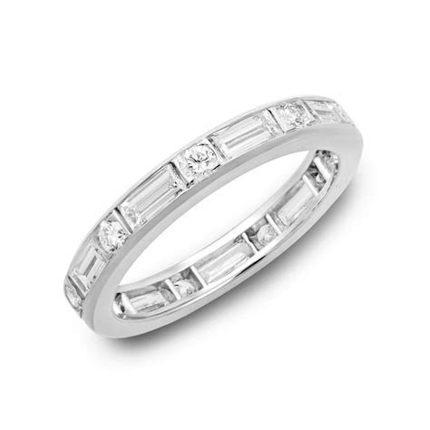 Oscar Heyman Round & Emerald Cut Diamond Eternity Band