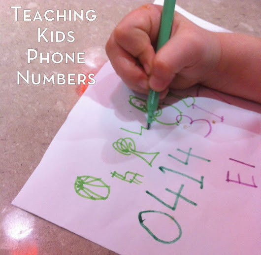 Teach a Child to Remember Their Phone Number | Be A Fun Mum