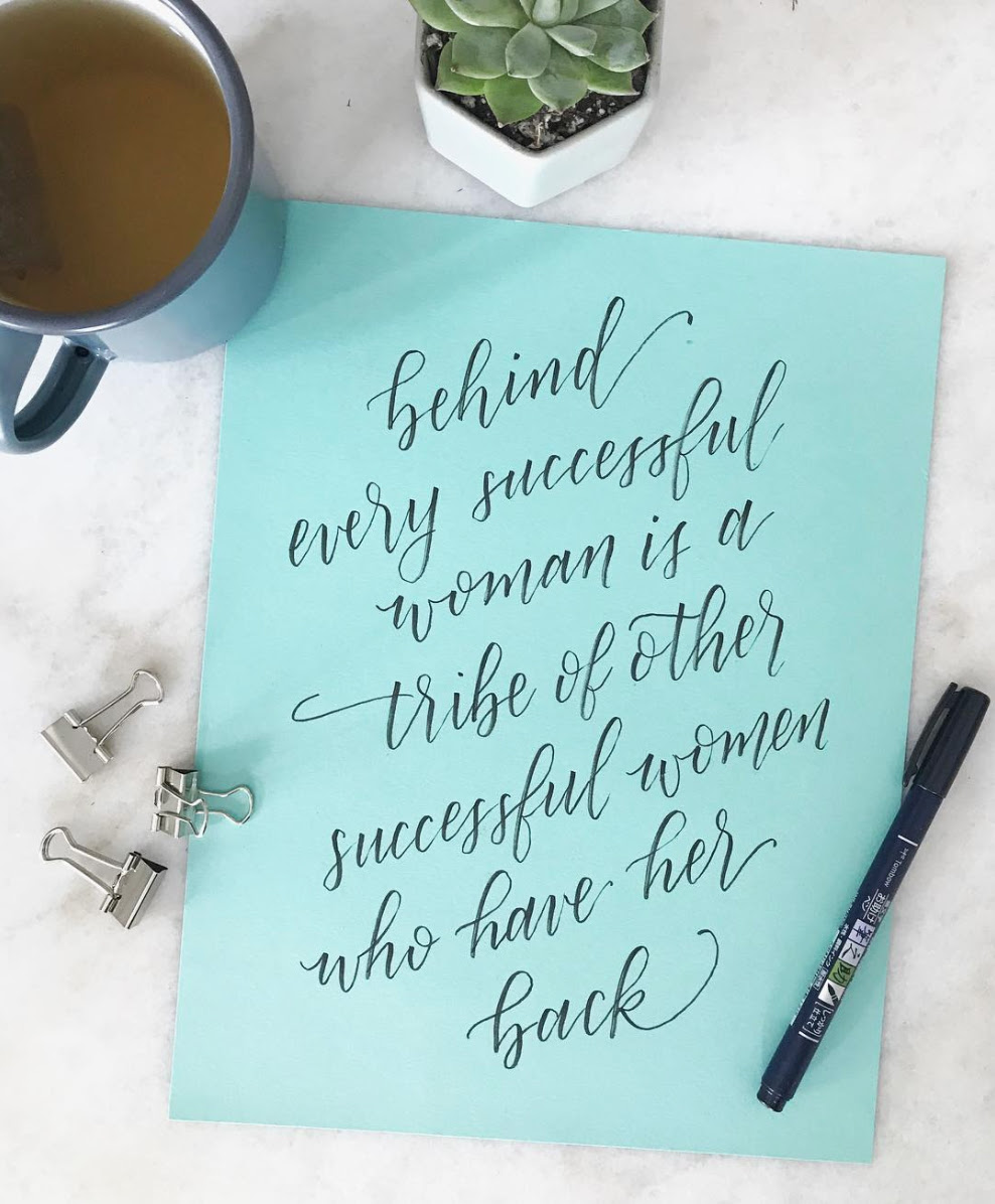 Successful Women Quote Hand Lettering Were Into It