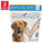 Diamond Feed Checkups Dental Dog Treats 24 Count, 2 Pack