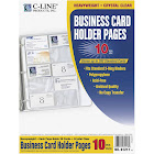 C-Line Business Card Binder Pages,