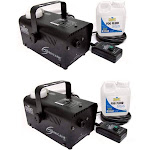 Chauvet DJ Halloween Fog Smoke Machines with Fog Fluid and Wired Remo