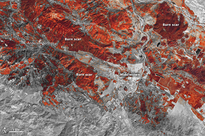 Wildfire Scars California Towns