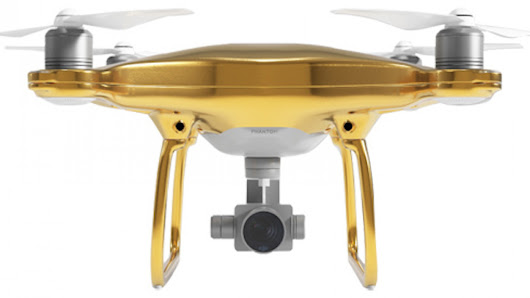 The $24K Gold Edition DJI Phantom 4 is the Sleekest Drone You'll Never Buy