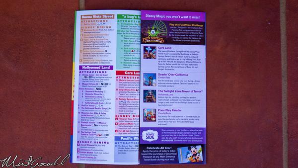 Disneyland Resort, Disney California Adventure, Guide Map
