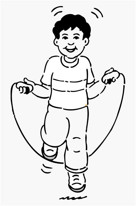 Transparent Kid Jumping Png - Jump Rope For Coloring