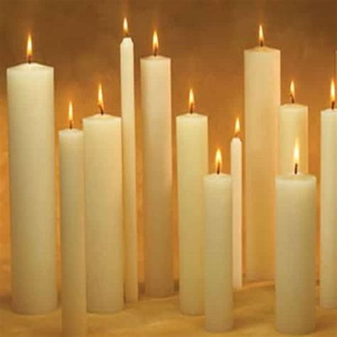 66% Beeswax Altar Candles from Canadian Beeswax