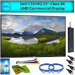 """Dell C5519Q 55"""" Inch Class 4K UHD LED Commercial Display Monitor for Office Meetings Advanced Bundle w/ Cleaning Kit"""