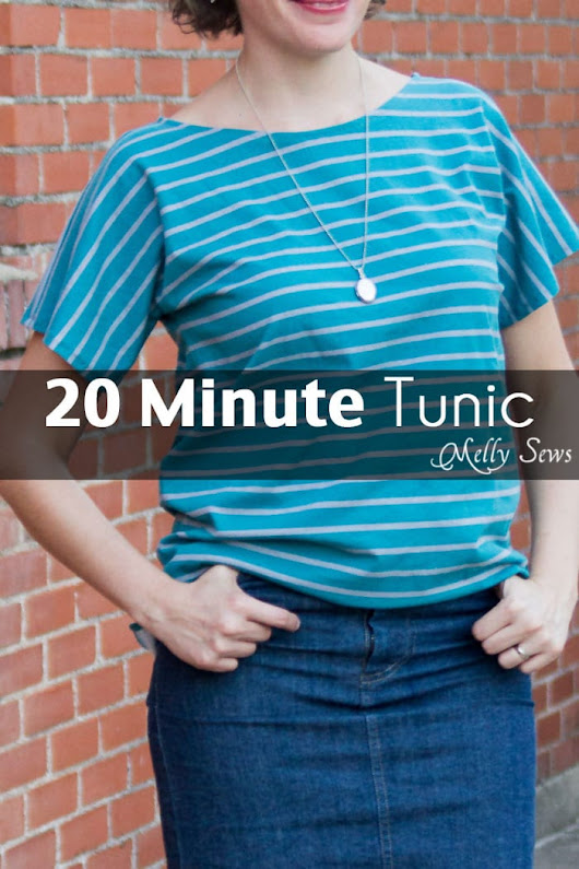 How to Sew a Shirt - 20 Minute Tunic Project - Melly Sews