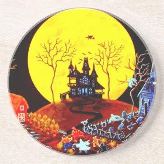 """Halloween Coaster """"Keep Running"""""""
