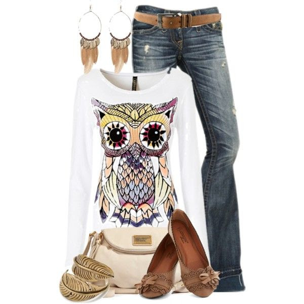 """Owl"", created by colierollers on Polyvore"